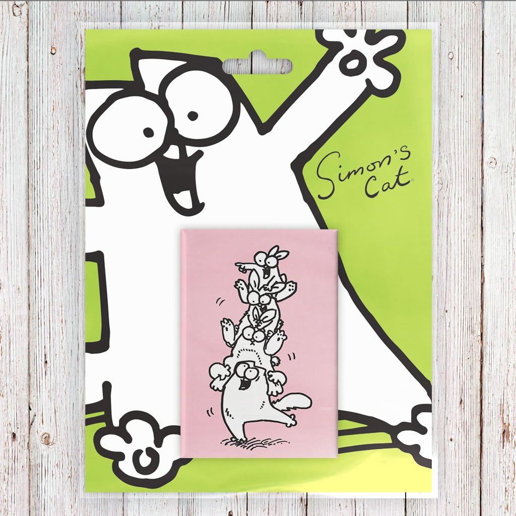 Simon's Cat Tower Magnet Pink - Simon's Cat Shop