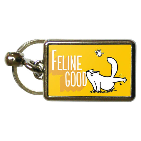 Feline Good Metal Keyring - Simon's Cat Shop