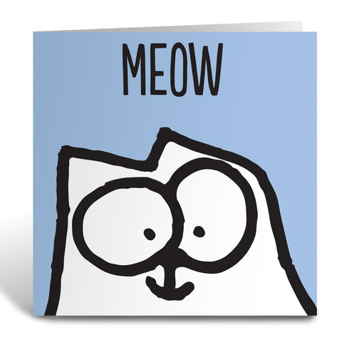 Meow Square Greeting Card - Simon's Cat Shop
