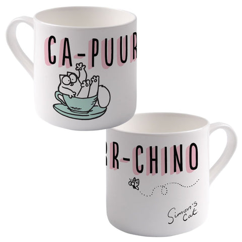 Ca-Puurr-Chino Big Bone China Mug - Simon's Cat Shop