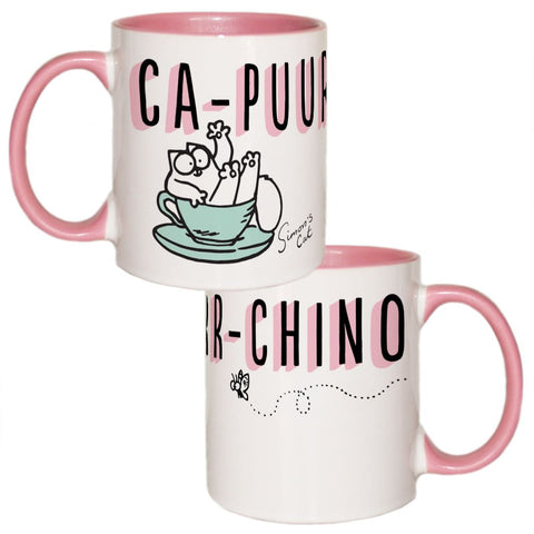 Ca-Puurr-Chino Coloured Insert Mug - Simon's Cat Shop