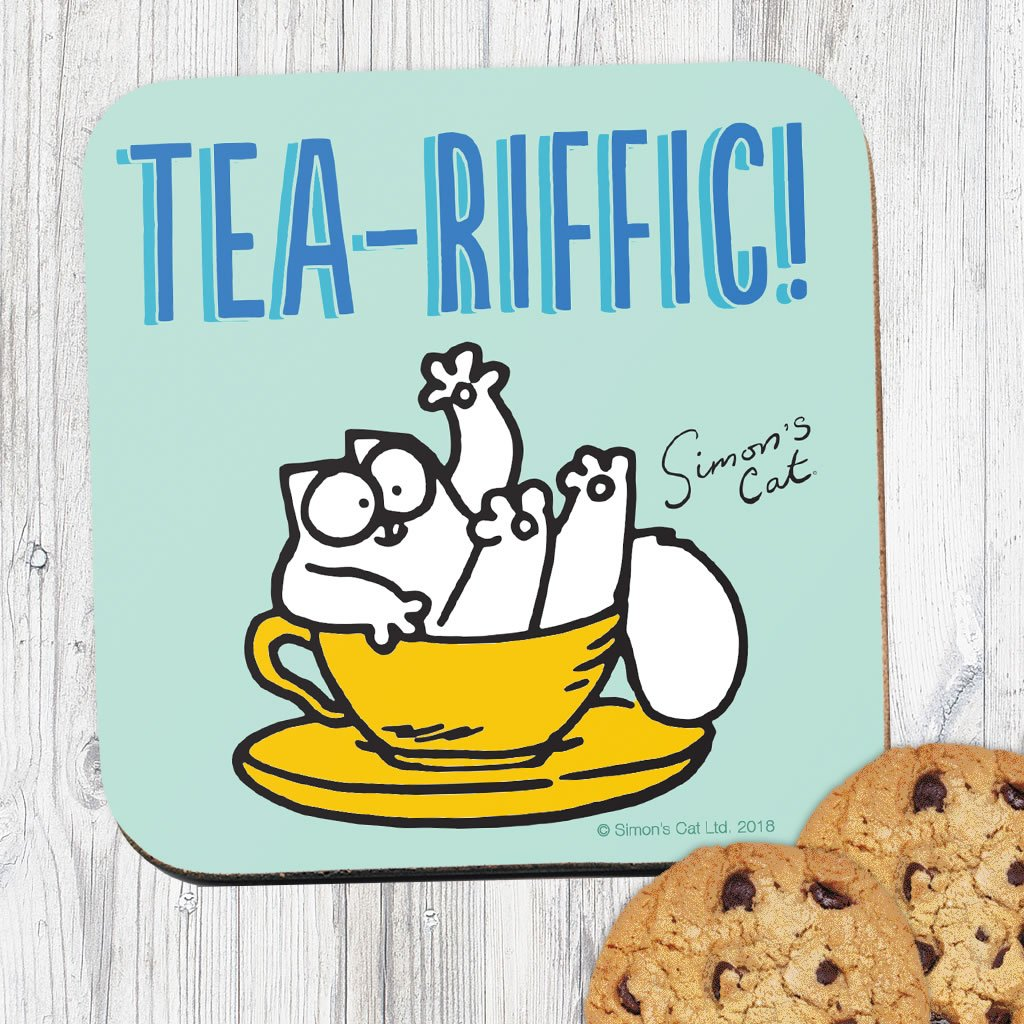 Tea-Riffic Coaster - Simon's Cat Shop