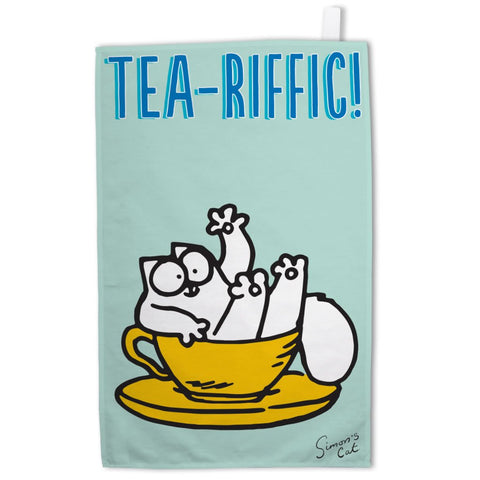 Tea-Riffic Tea Towel - Simon's Cat Shop