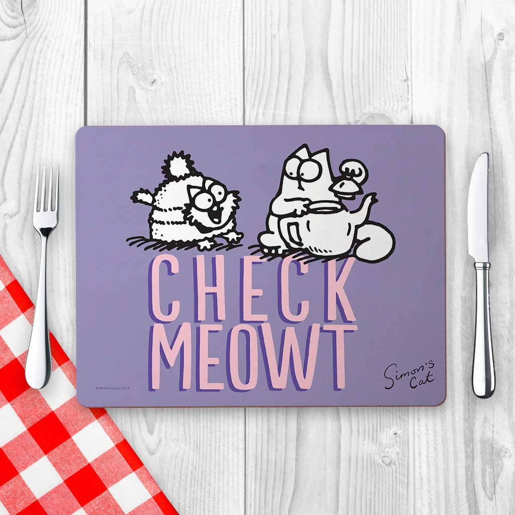 Check Meowt Placemat - Simon's Cat Shop