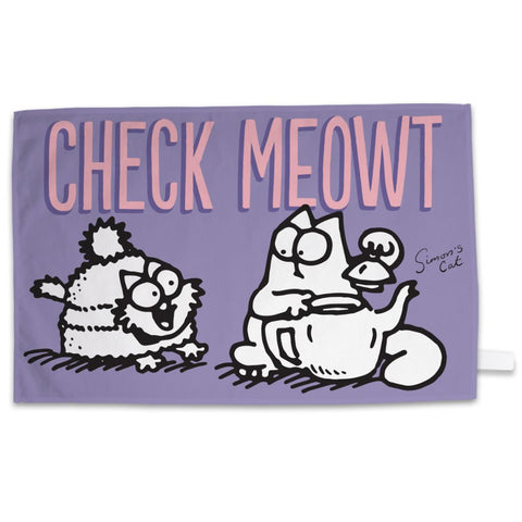 Check Meowt Tea Towel - Simon's Cat Shop