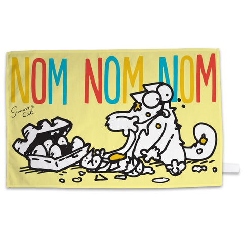 Nom Nom Nom Tea Towel - Simon's Cat Shop