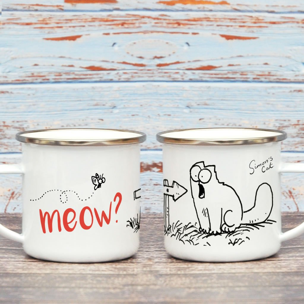 Meow? Enamel Mug - Simon's Cat Shop