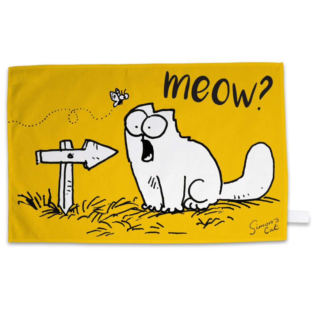 Meow? Tea Towel - Simon's Cat Shop
