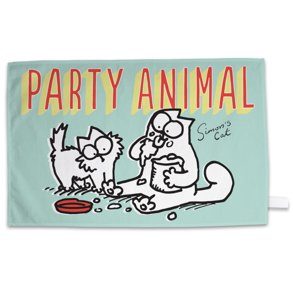 Party Animal Towel - Simon's Cat Shop