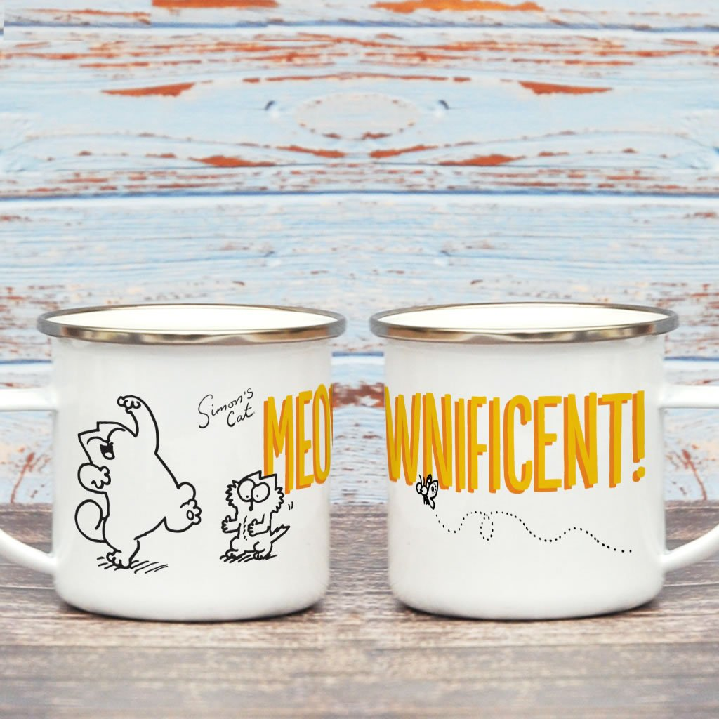 Meownificent Enamel Mug - Simon's Cat Shop