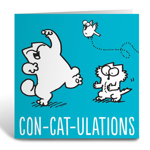 Con-Cat-Ulations Square Greeting Card - Simon's Cat Shop