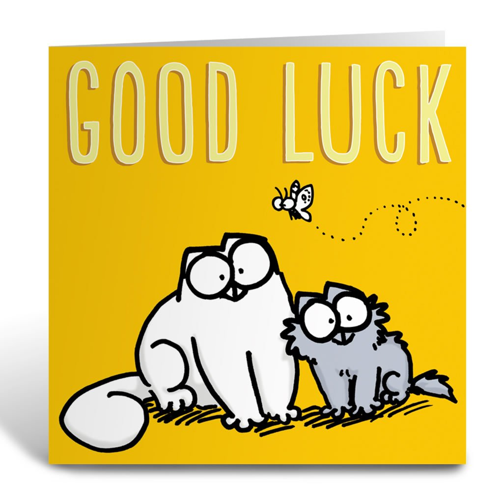 Good Luck Square Greeting Card - Simon's Cat Shop