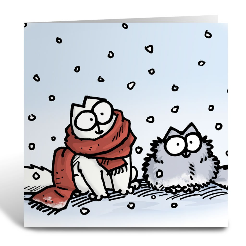 Snow Square Greeting Card - Simon's Cat Shop