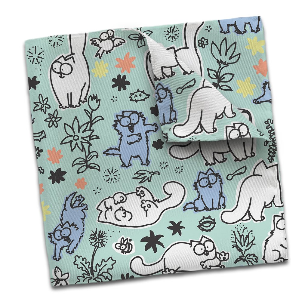 Simon's Cat Scarf Blue - Simon's Cat Shop