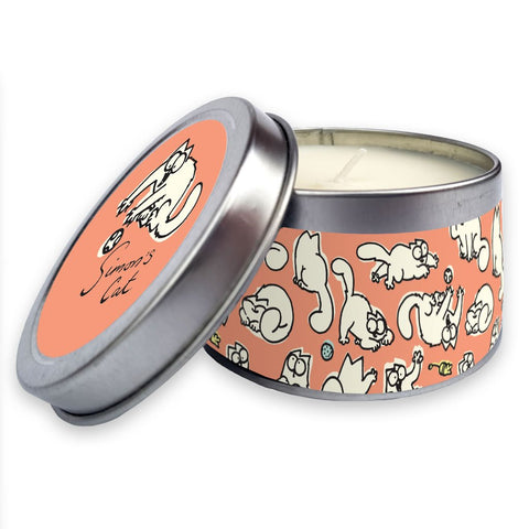 Simon's Cat Candle in a tin Pink - Simon's Cat Shop