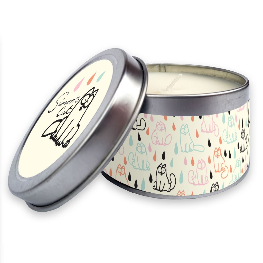 Simon's Cat Candle in a tin Raindrops - Simon's Cat Shop