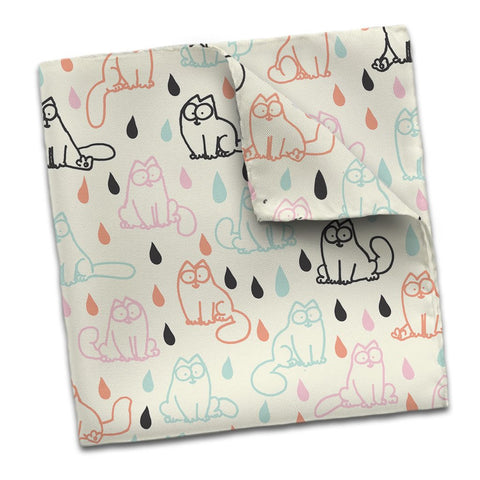 Simon's Cat Scarf Raindrops - Simon's Cat Shop