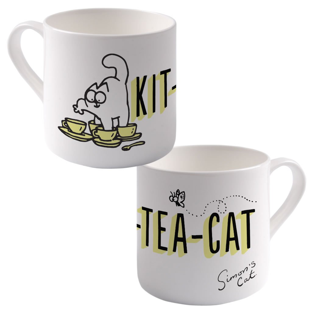Kit-Tea-Cat Big Bone China Mug - Simon's Cat Shop