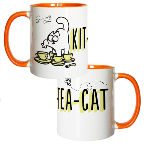 Kit-Tea-Cat Coloured Insert Mug - Simon's Cat Shop