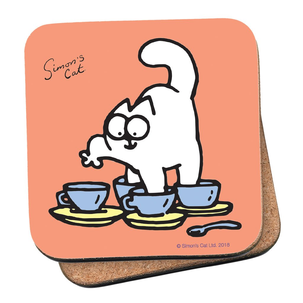 Simon's Cat Tea Cups Coaster - Simon's Cat Shop