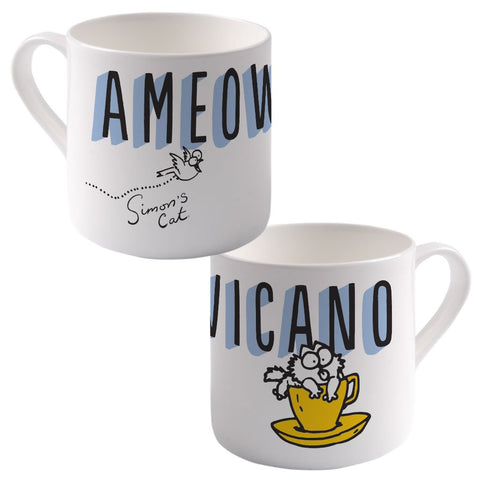 Ameowicano Big Bone China Mug - Simon's Cat Shop
