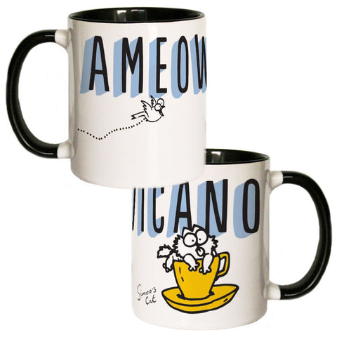Ameowicano Coloured Insert Mug - Simon's Cat Shop