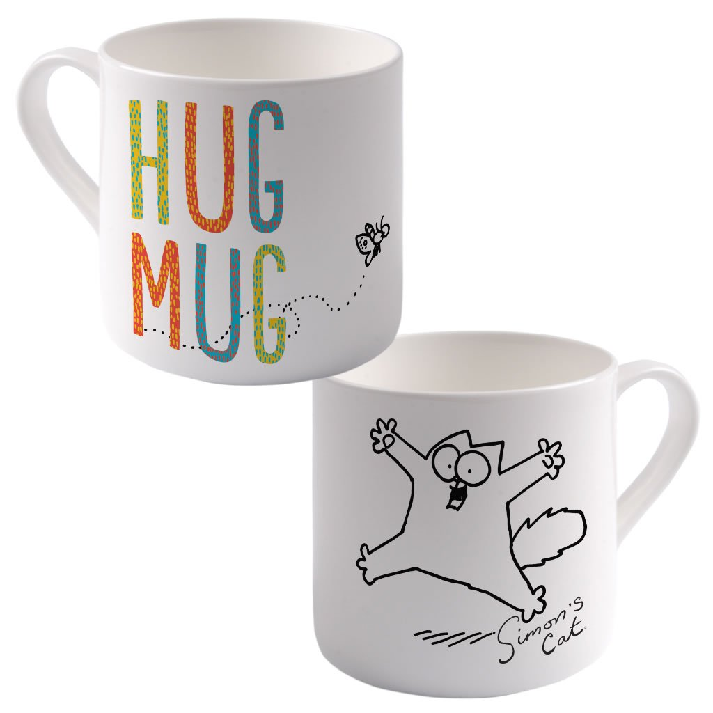 Hug Mug Big Bone China Mug - Simon's Cat Shop