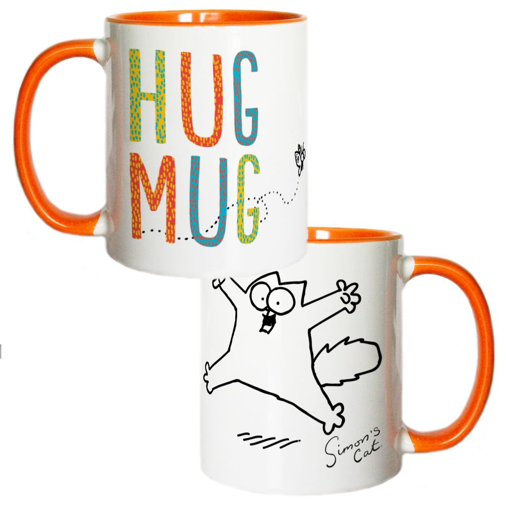 Hug Mug Coloured Insert Simon's Cat Mug - Simon's Cat Shop