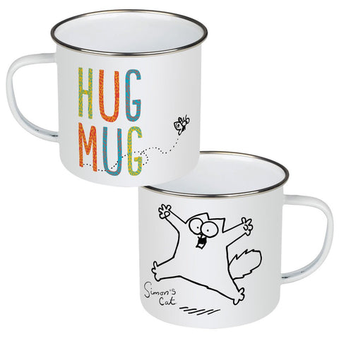 Hug Mug Enamel Mug - Simon's Cat Shop