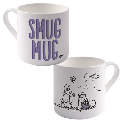 Smug Mug Big Bone China Mug - Simon's Cat Shop