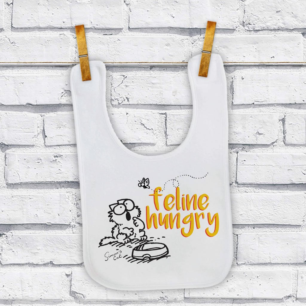 Feline Hungry Baby Bib - Simon's Cat Shop