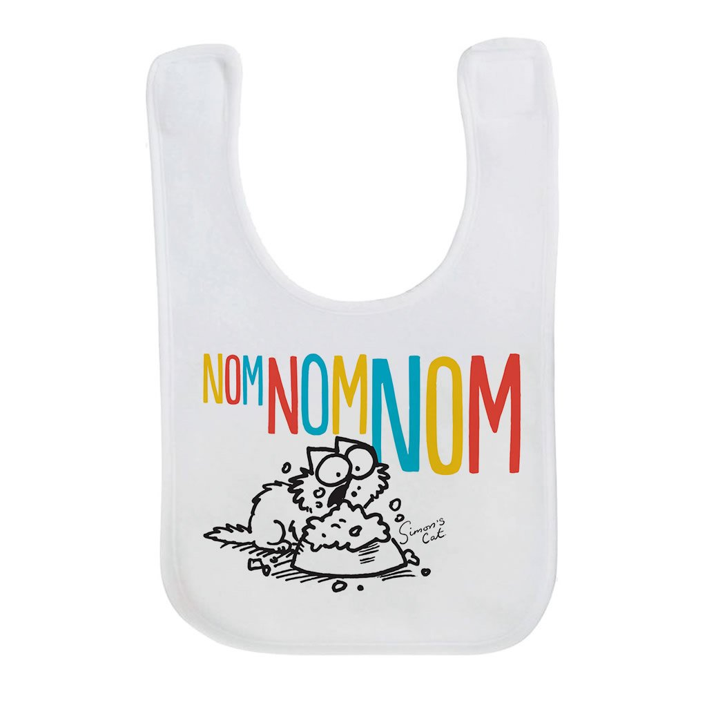 Nom Nom Nom Baby Bib - Simon's Cat Shop
