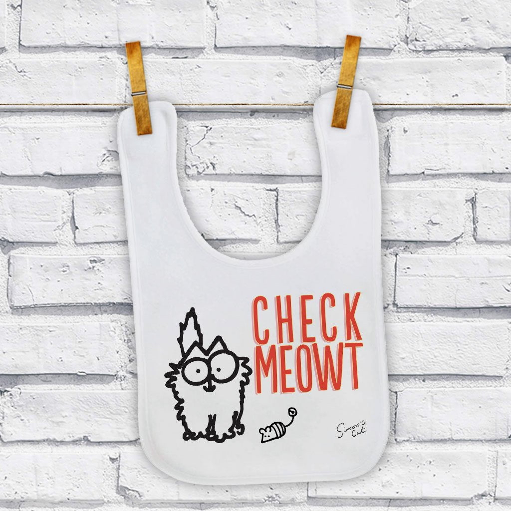 Check Meowt Baby Bib - Simon's Cat Shop