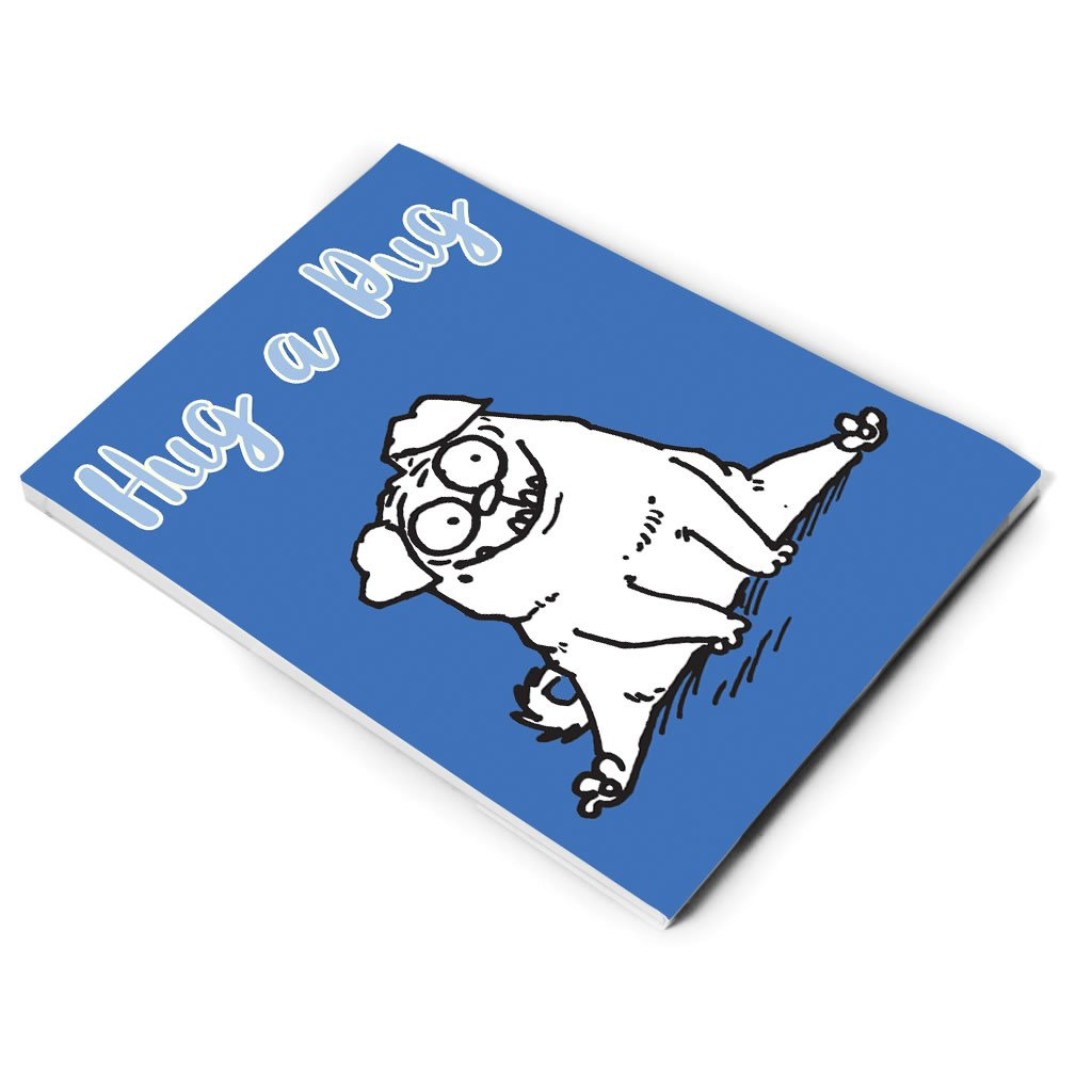 Hug a Pug A5 Notepad - Simon's Cat Shop