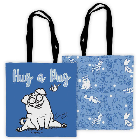 Hug A Pug Tote Bag - Simon's Cat Shop