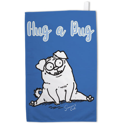 Hug a Pug Tea Towel - Simon's Cat Shop