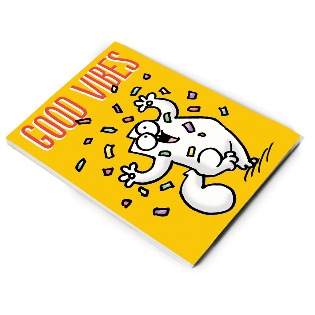 Good Vibes A5 Notepad - Simon's Cat Shop