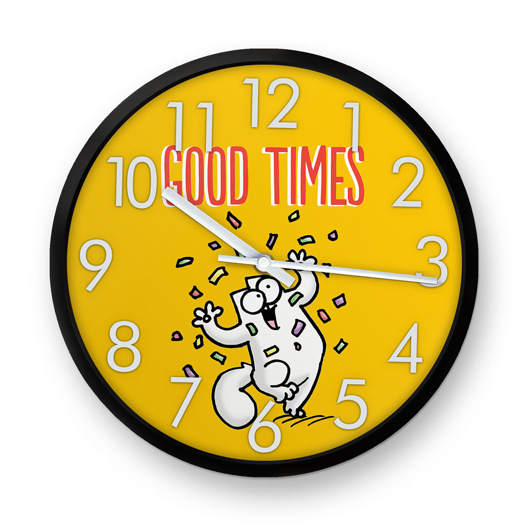 Good Times Clock - Simon's Cat Shop