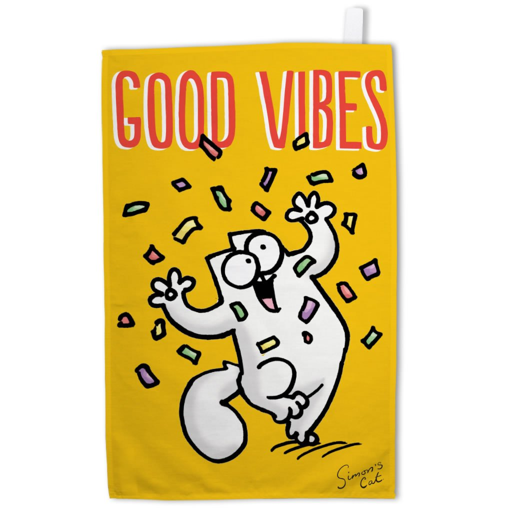 Good Vibes Tea Towel - Simon's Cat Shop