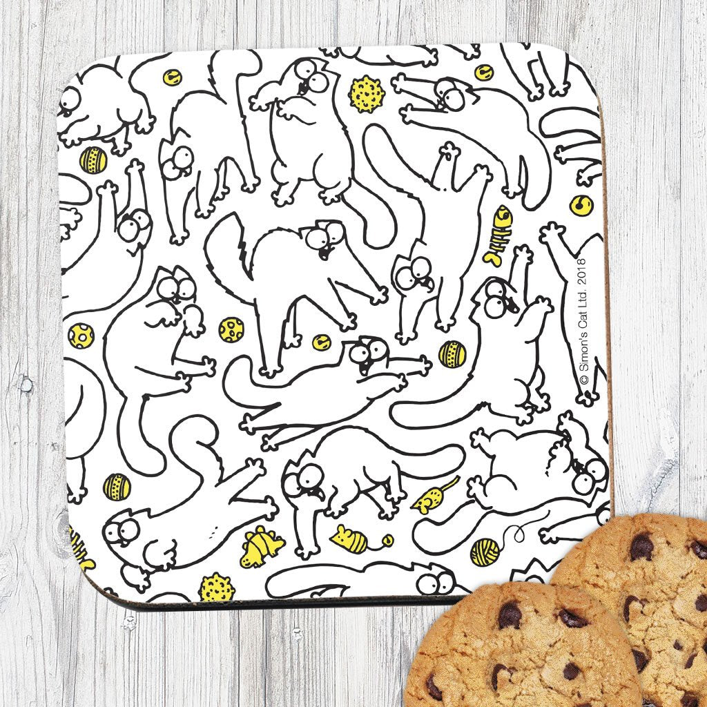 Cat Pattern Coaster - Simon's Cat Shop