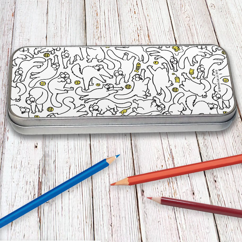 Simon's Cat Print Pencil Tin - Simon's Cat Shop