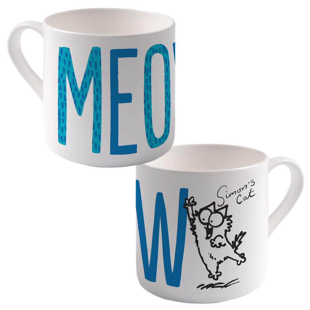 Meow Big Bone China Mug - Simon's Cat Shop