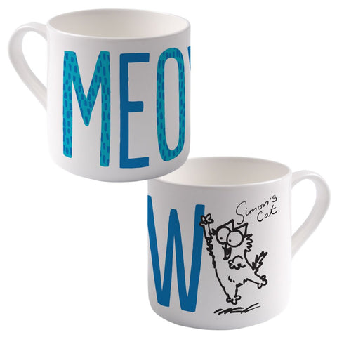 Meow Bone China Mug - Simon's Cat Shop