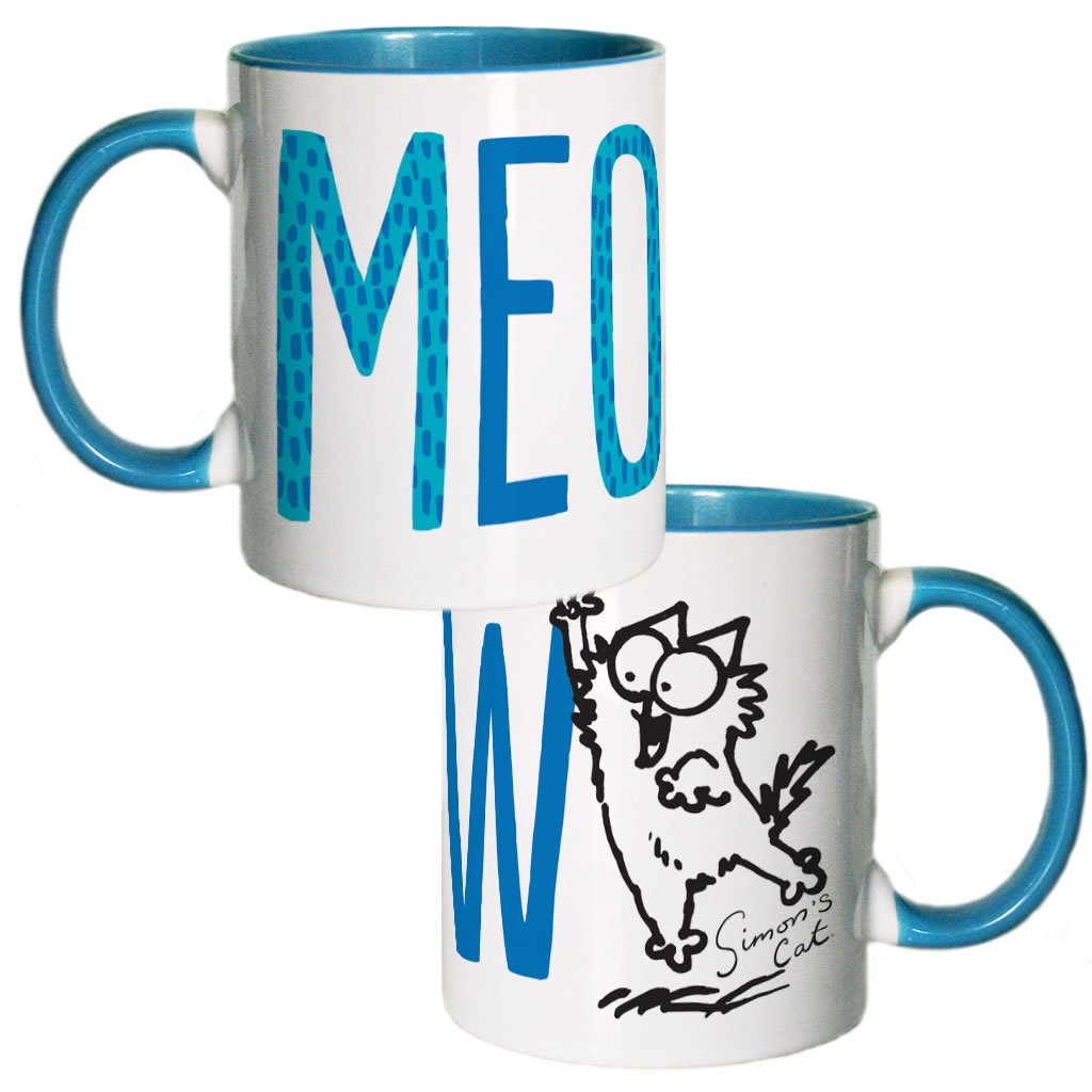 Meow Coloured Insert Mug - Simon's Cat Shop
