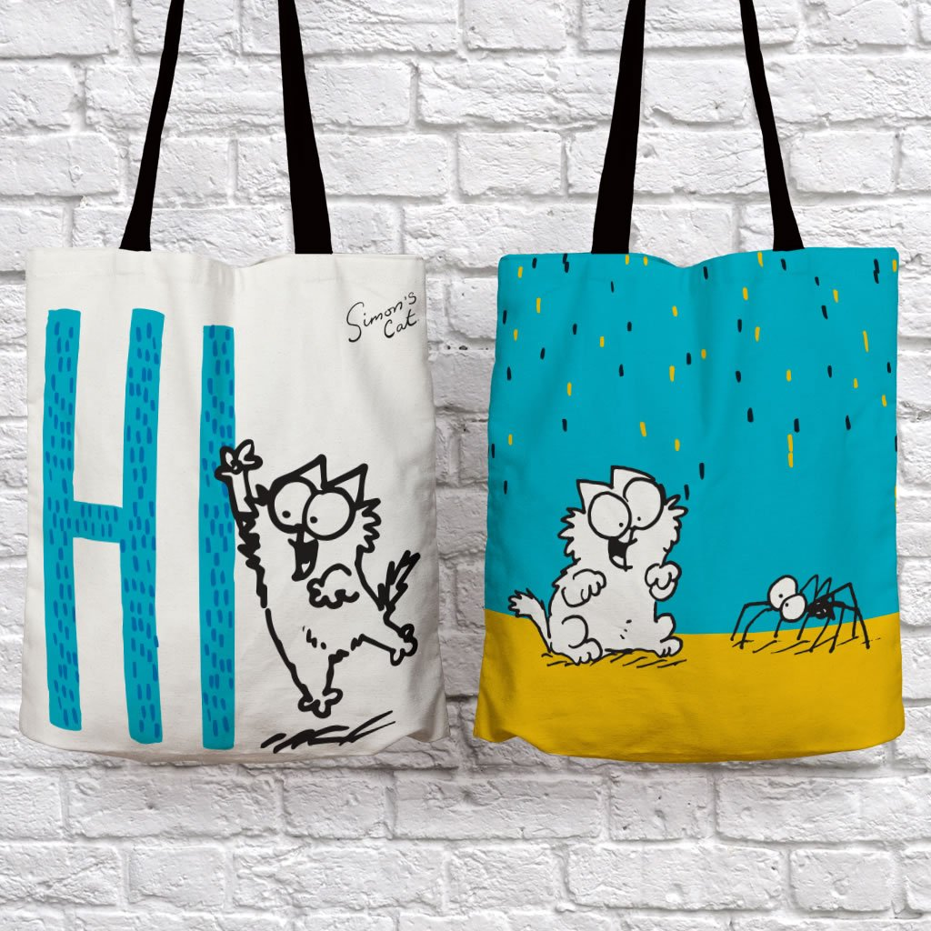 Hi!  Tote Bag - Simon's Cat Shop