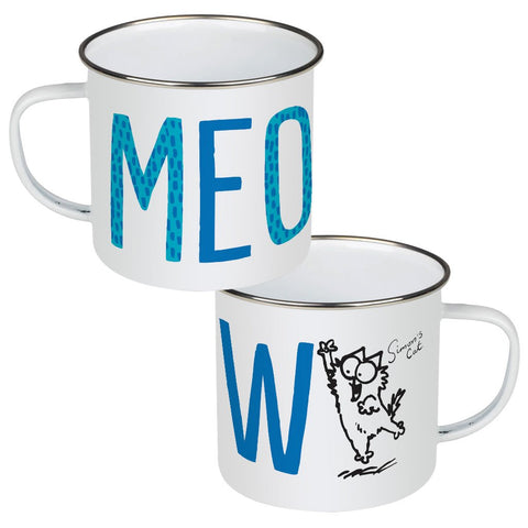 Meow Kitten Enamel Mug - Simon's Cat Shop