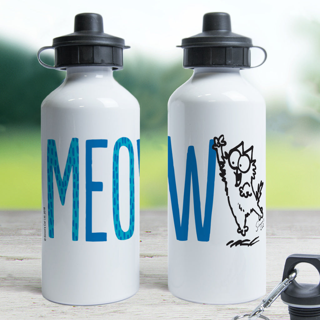 Meow Water Bottle - Simon's Cat Shop