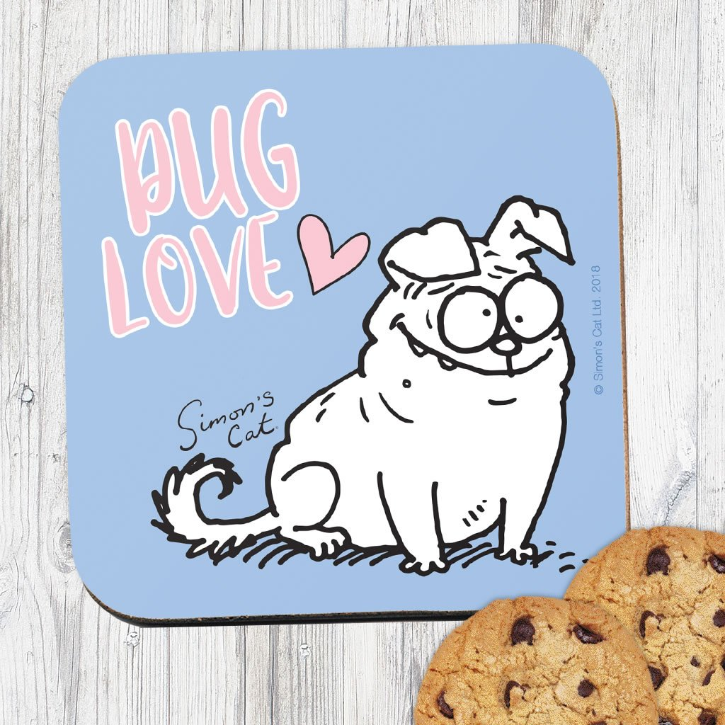 Pug Love Coaster - Simon's Cat Shop