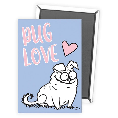 Pug Love Magnet - Simon's Cat Shop