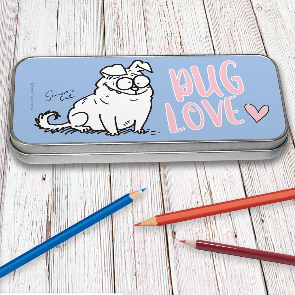 Pug Love Pencil Tin